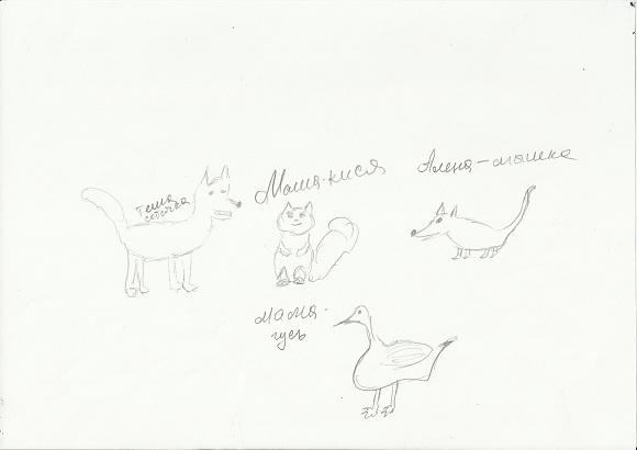 тест семья животных