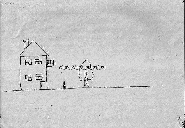 дом дерево человек ствол-морковка