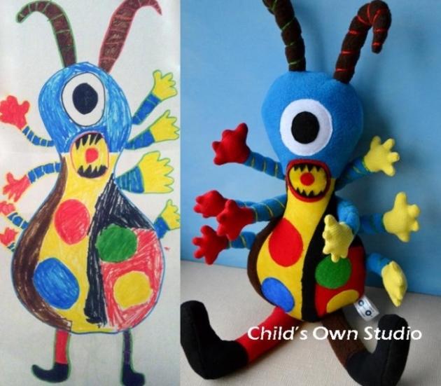 игрушки по рисункам